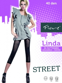 Leginy Fiore Linda 40den light grey, L-4